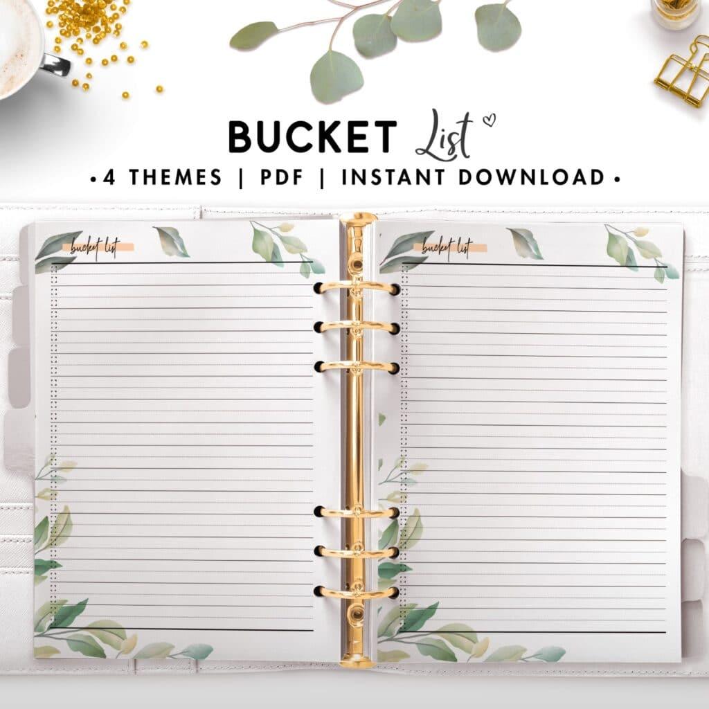bucket list - botanical