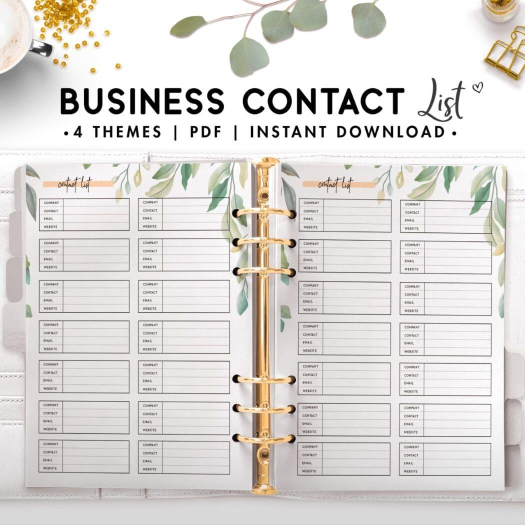 business contact list - botanical