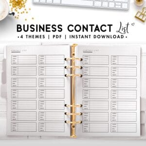 business contact list - classic