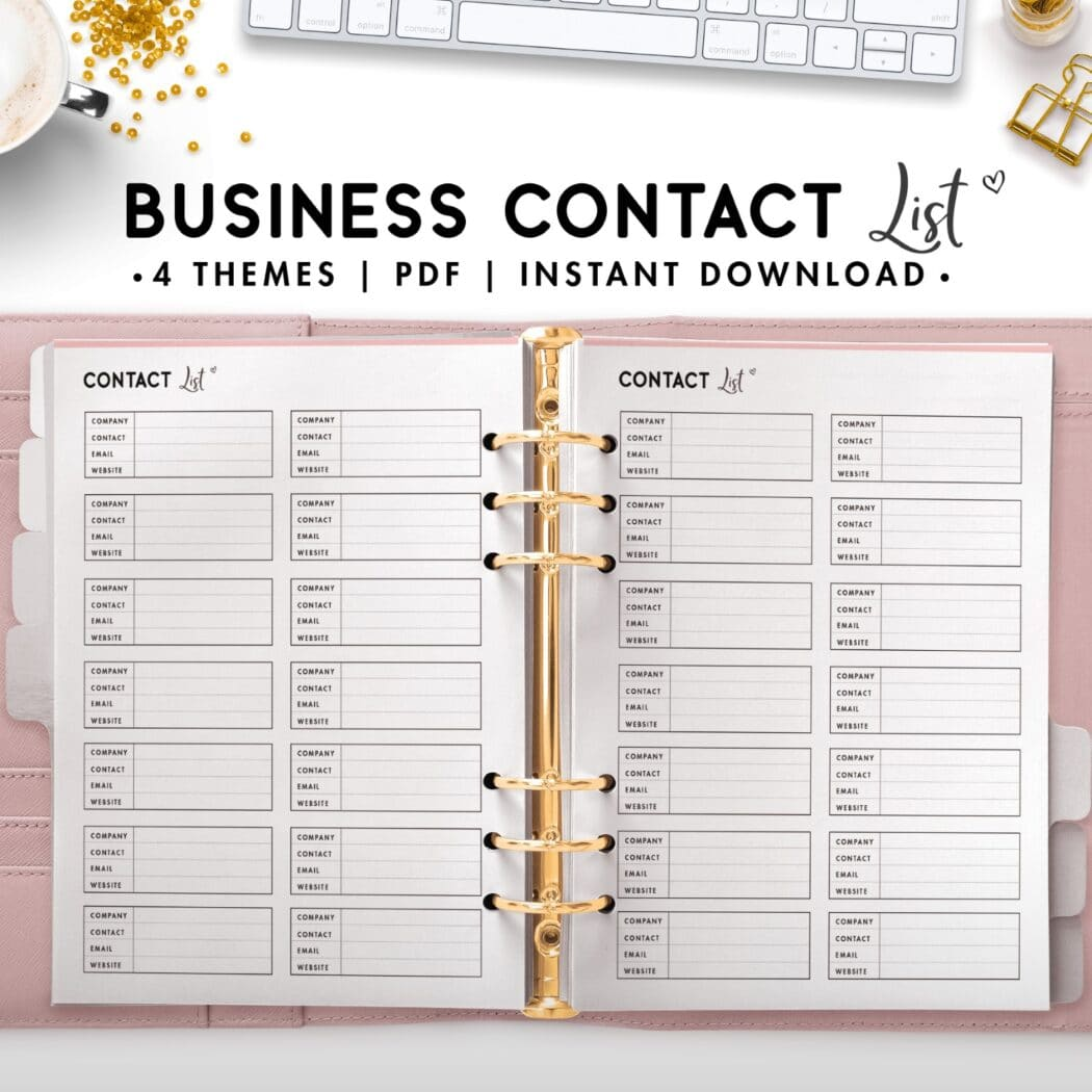 business contact list - soft