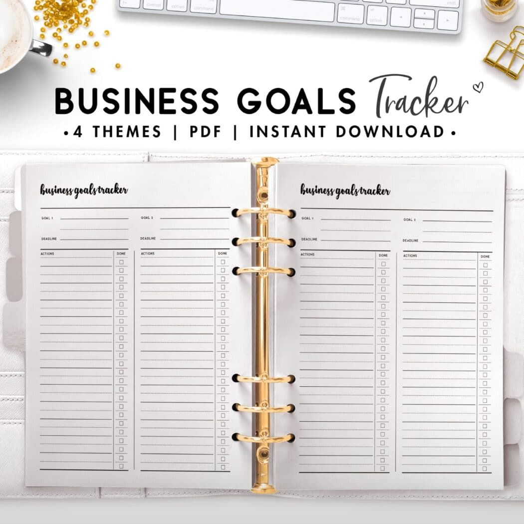 business goals tracker - cursive