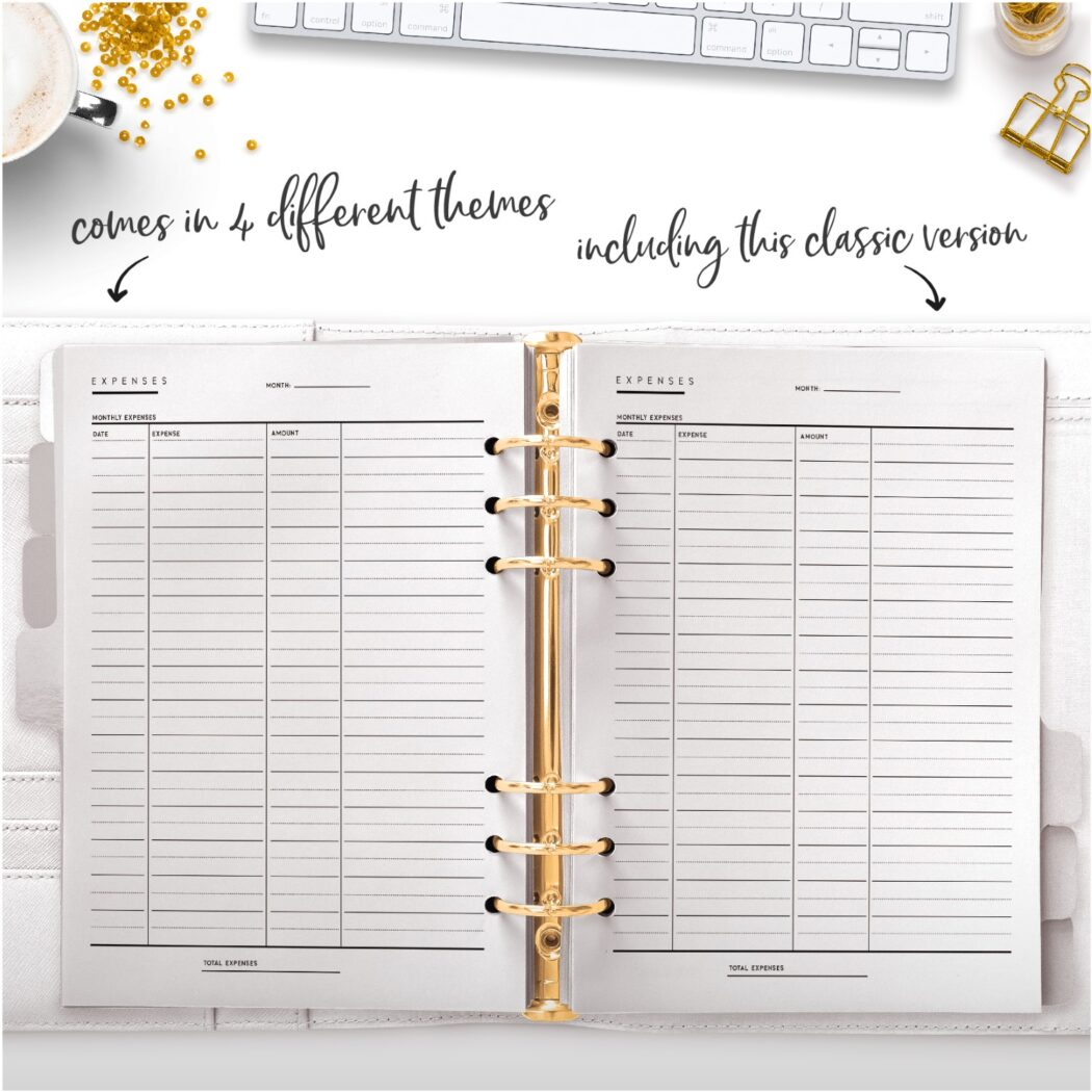 classic expenses tracker comes in four different versions