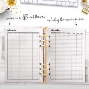 Cursive Sales Tracker comes in 4 different themes