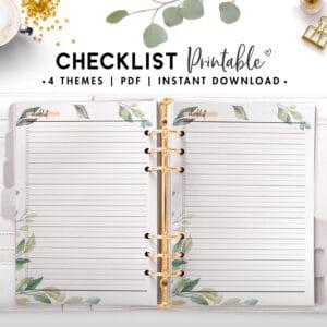 checklist - botanical