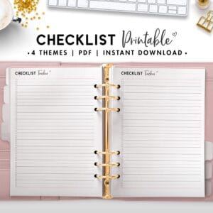 checklist printable