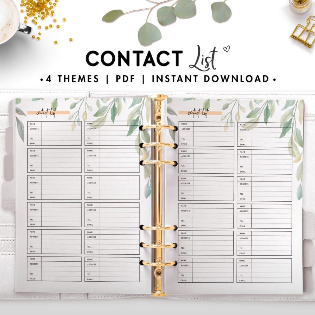 contact list - botanical
