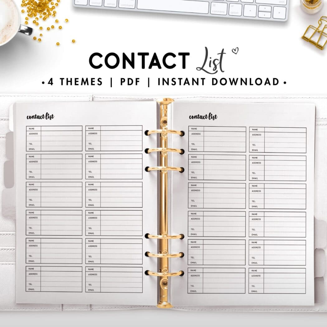 contact list - cursive