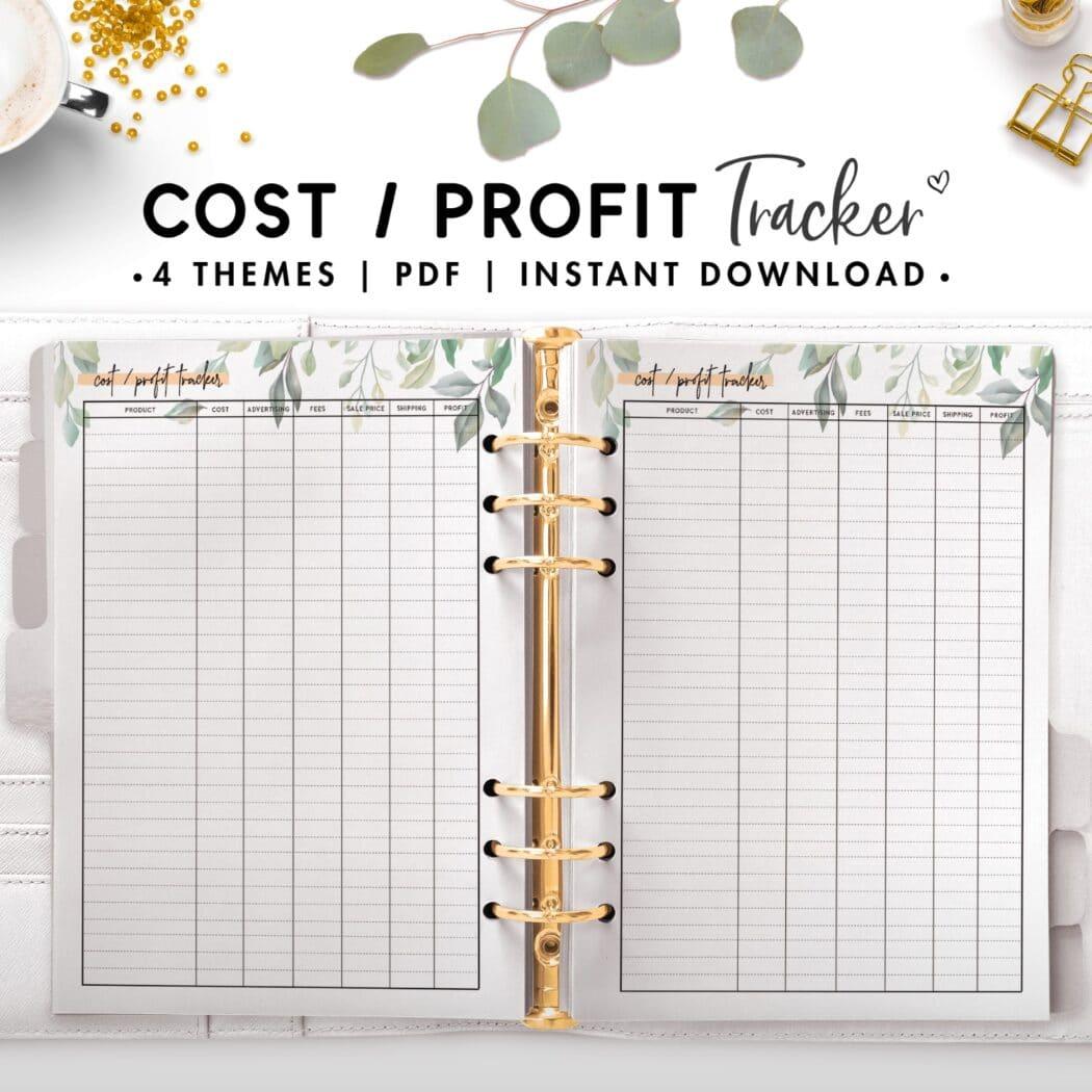 cost profilt tracker - botanical