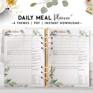 daily meal planner - botanical