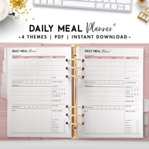 daily meal planner - soft