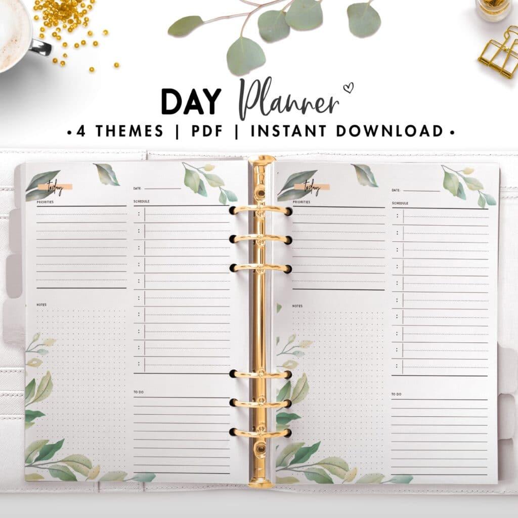 day planner - botanical