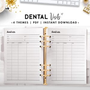dentist visits - cursive
