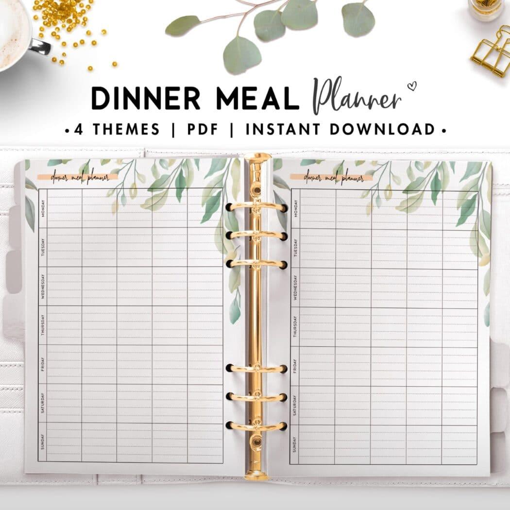 dinner meal planner - botanical
