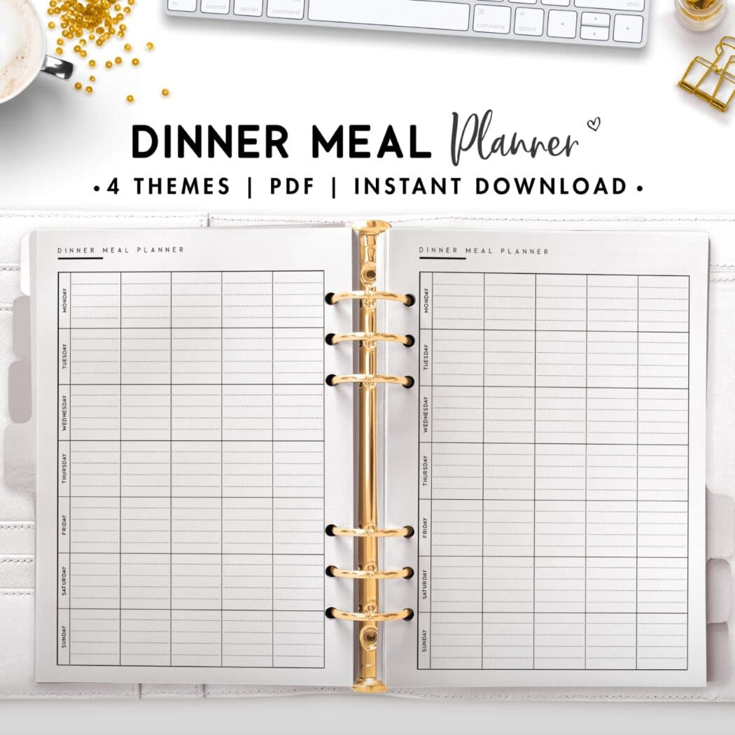 dinner meal planner - classic