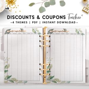 discounts and coupons tracker - botanical