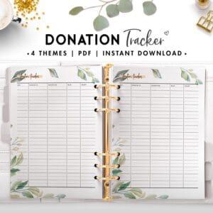 donation tracker - botanical