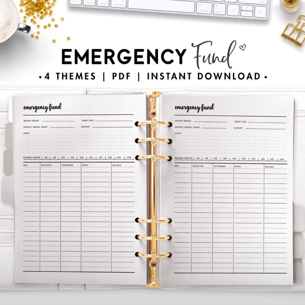 emergency fund - cursive