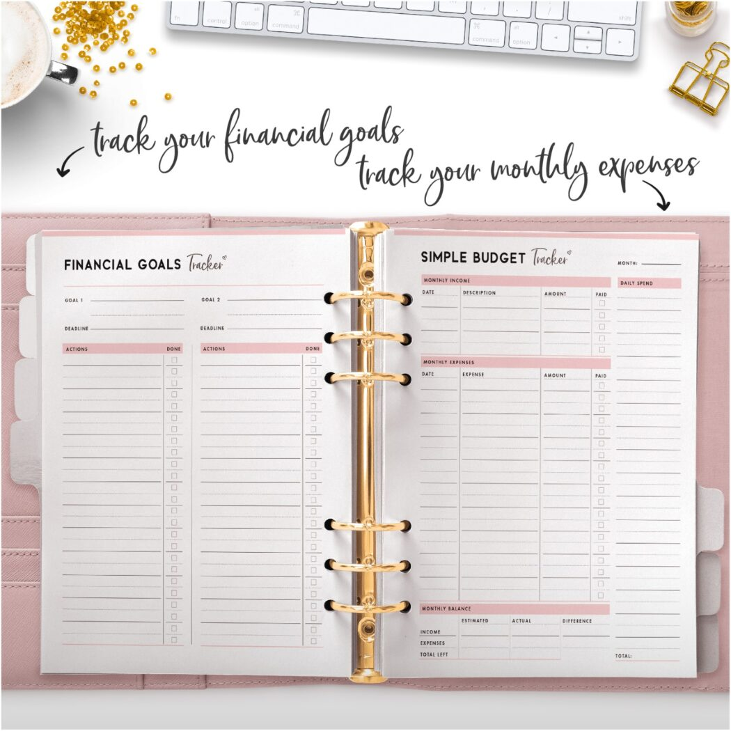 track your financial goals track your monthly expenses