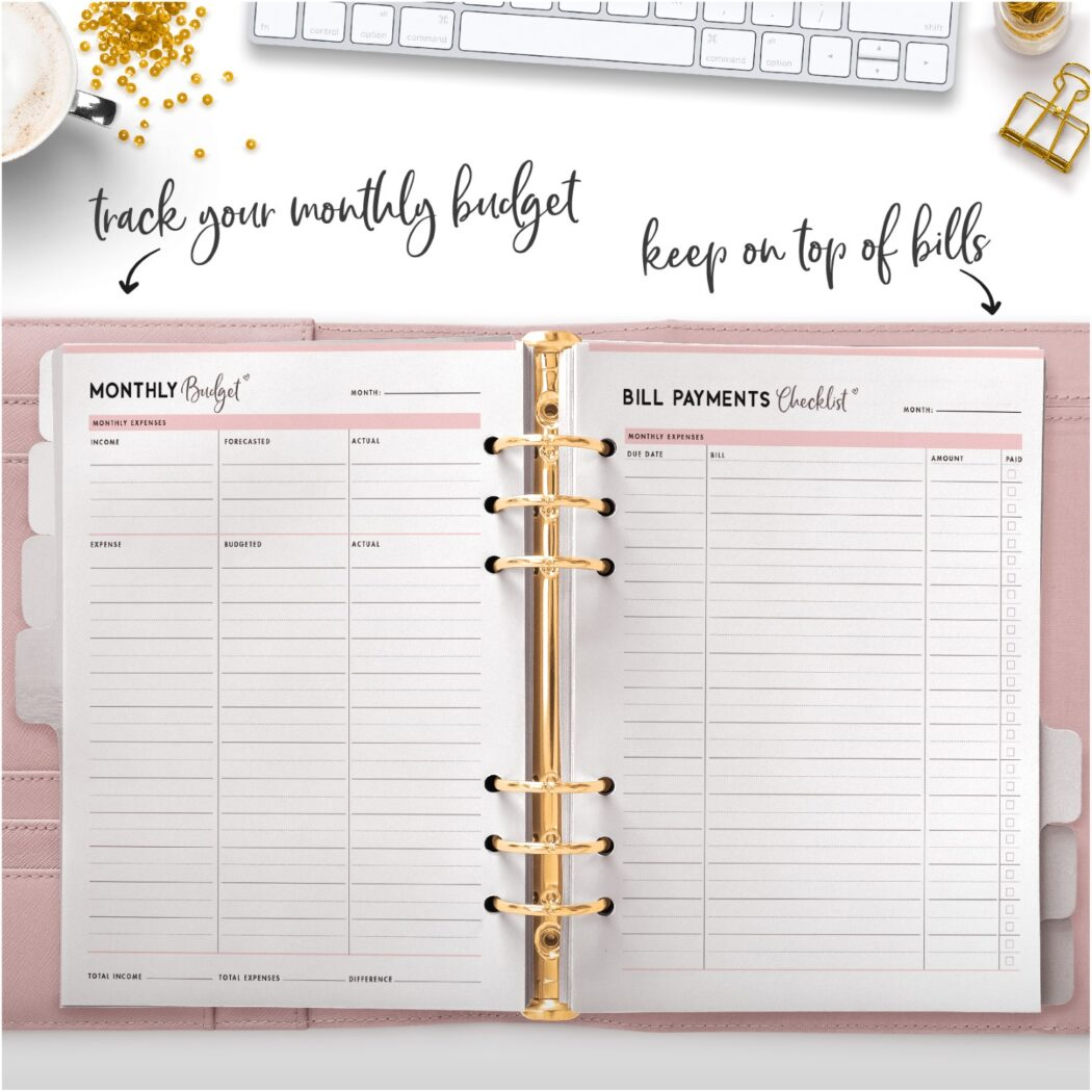 track your monthly budget keep on top of bills