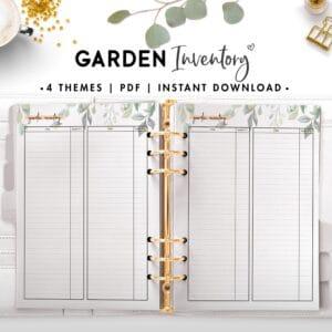 garden inventory - botanical