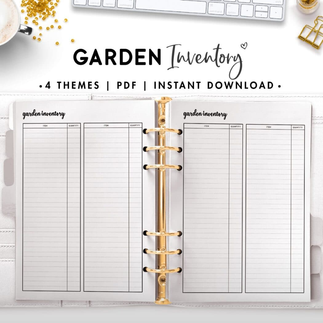 garden inventory - cursive