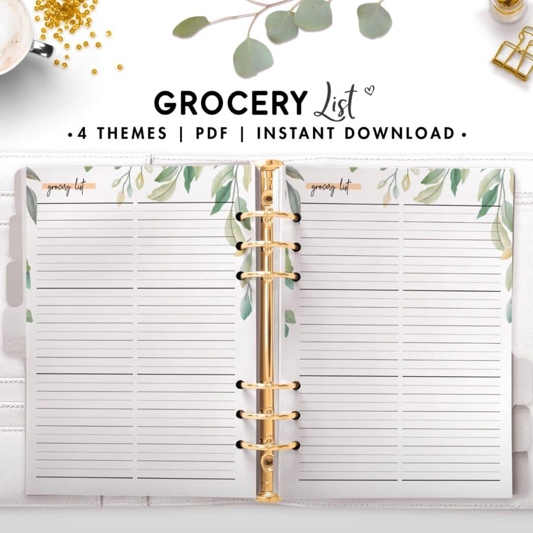 grocery list - botanical