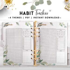 habit tracker - botanical