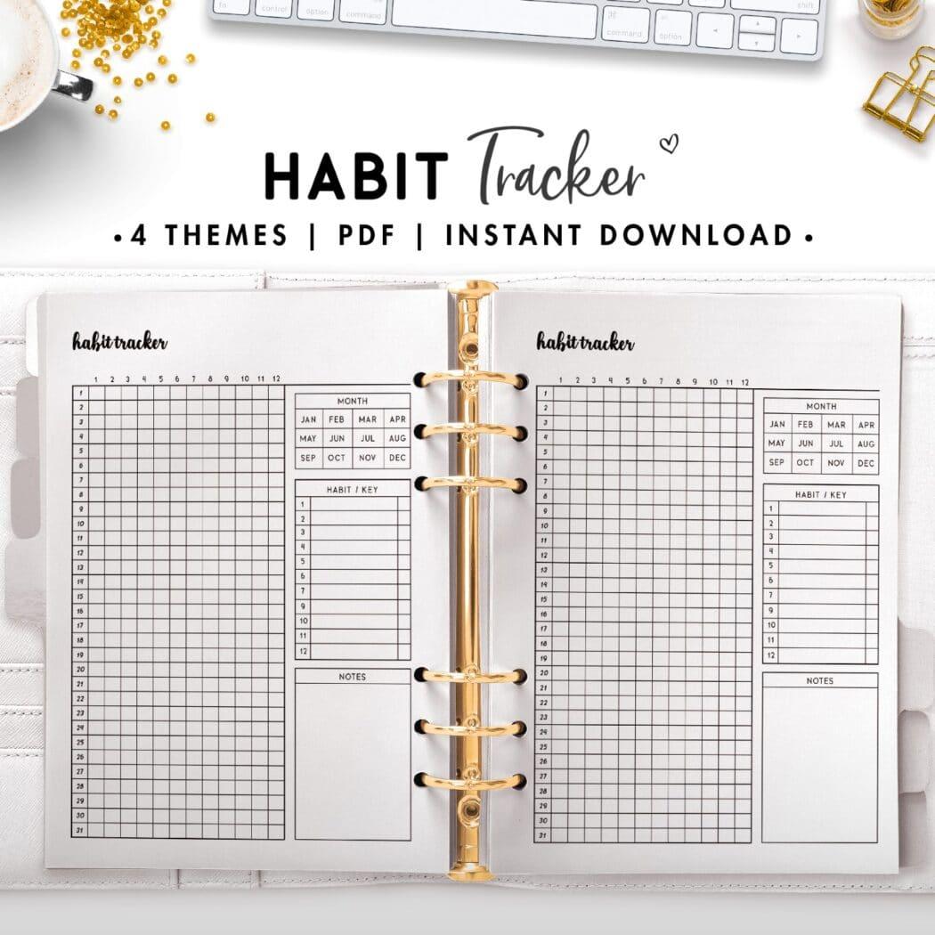 habit tracker - cursive