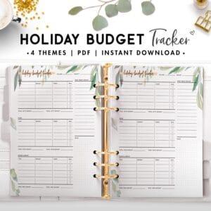 holiday budget tracker - botanical