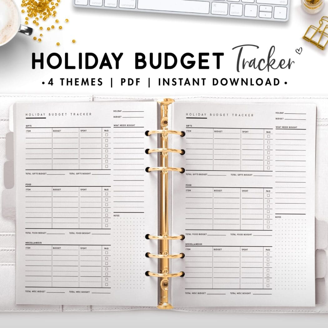 holiday budget tracker - classic