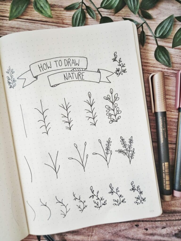 how to draw nature