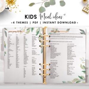 kids meal ideas - botanical