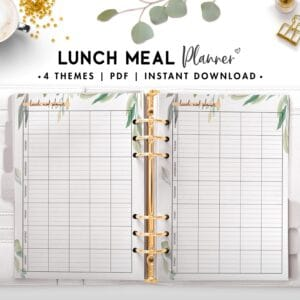 lunch meal planner - botanical