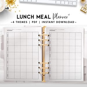 lunch meal planner - classic