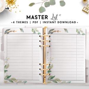 master list - botanical