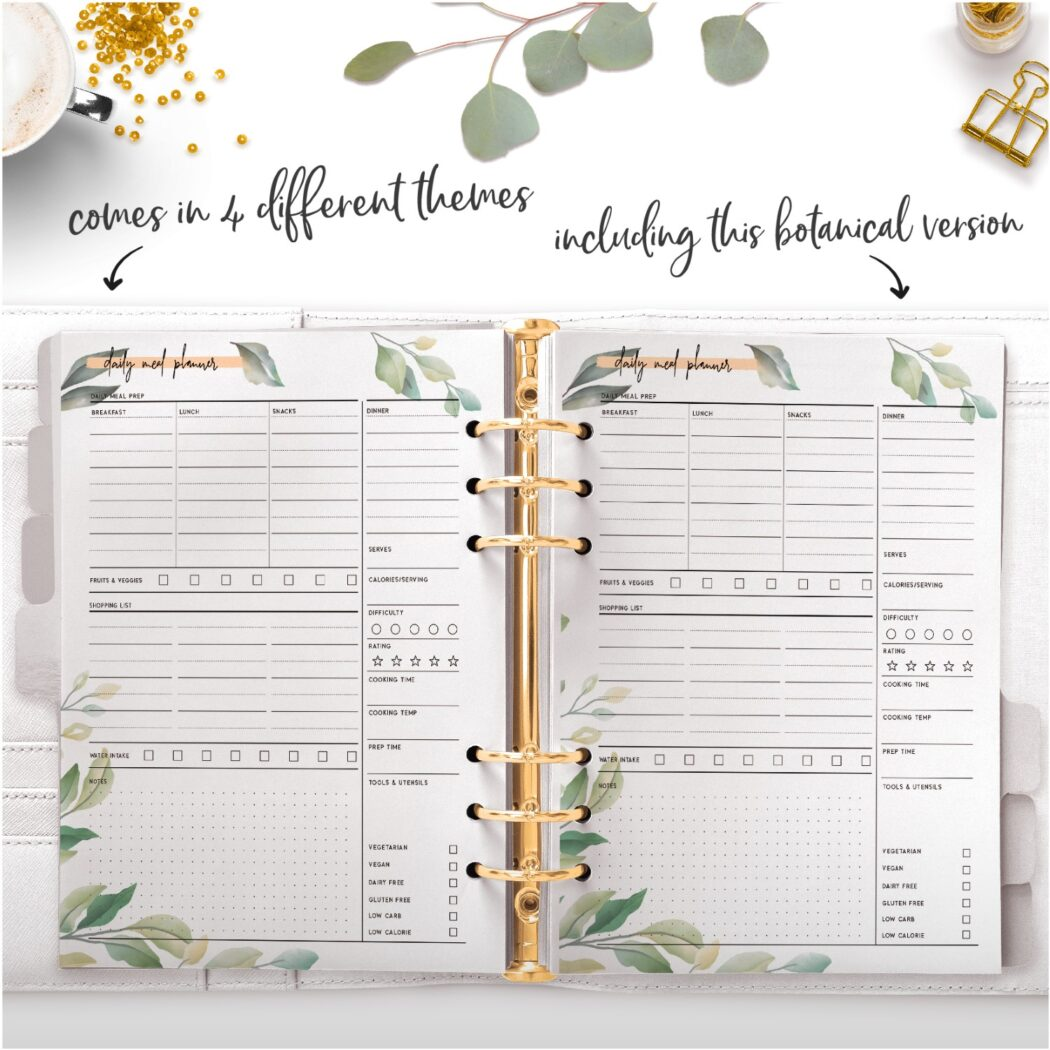 botanical daily meal planner
