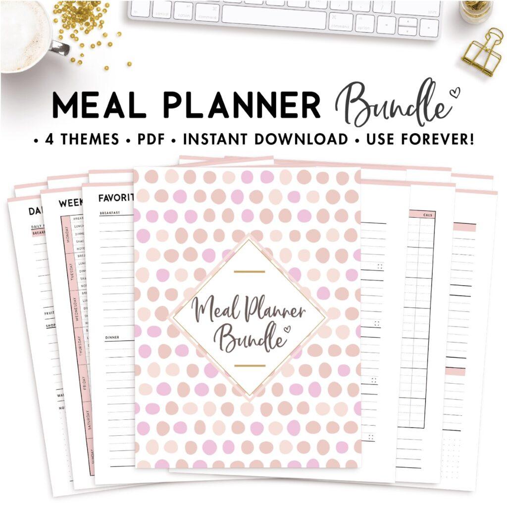 meal planner bundle