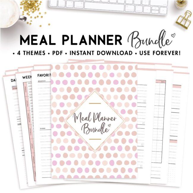 meal planner templates bundle