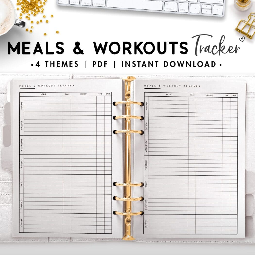 meals and workouts tracker - classic