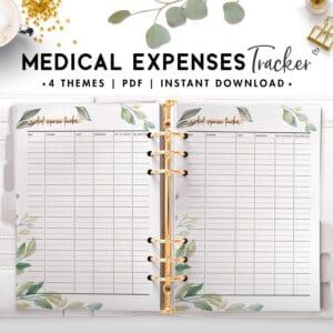 medical expenses tracker - botanical