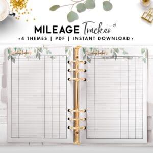 mileage tracker - botanical