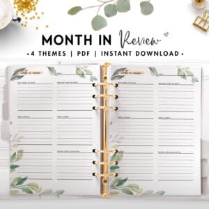 month in review - botanical