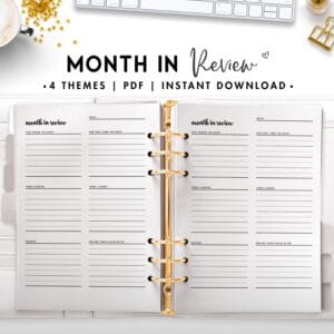 month in review - cursive