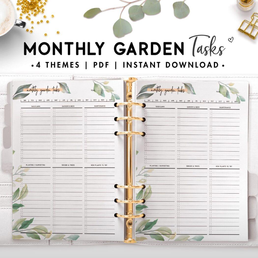 monthly garden tasks - botanical