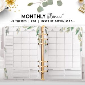 monthly planner - botanical