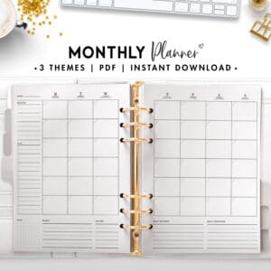 monthly planner - classic