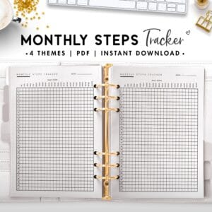 monthly steps tracker - classic