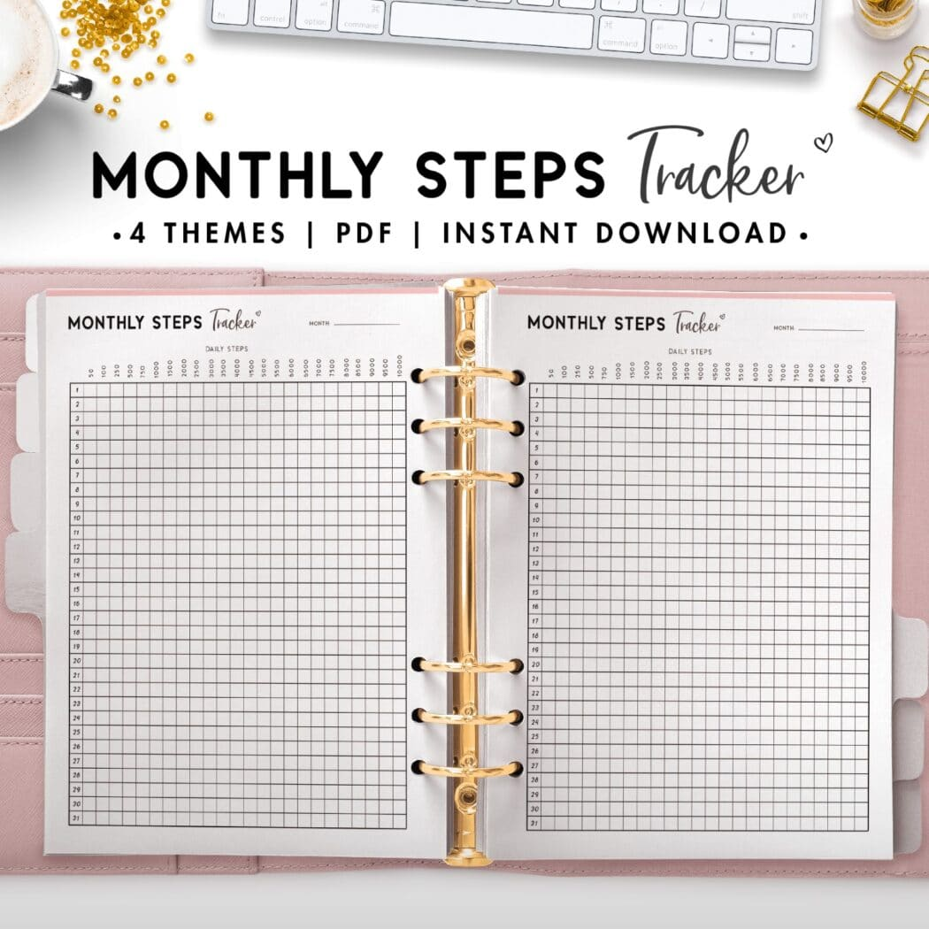 monthly steps tracker - soft