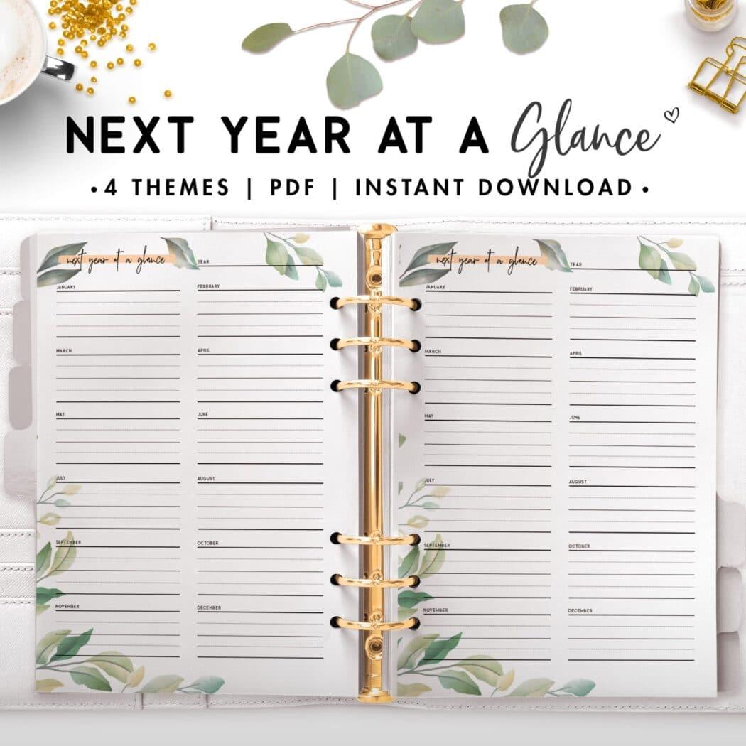 next year at a glance - botanical