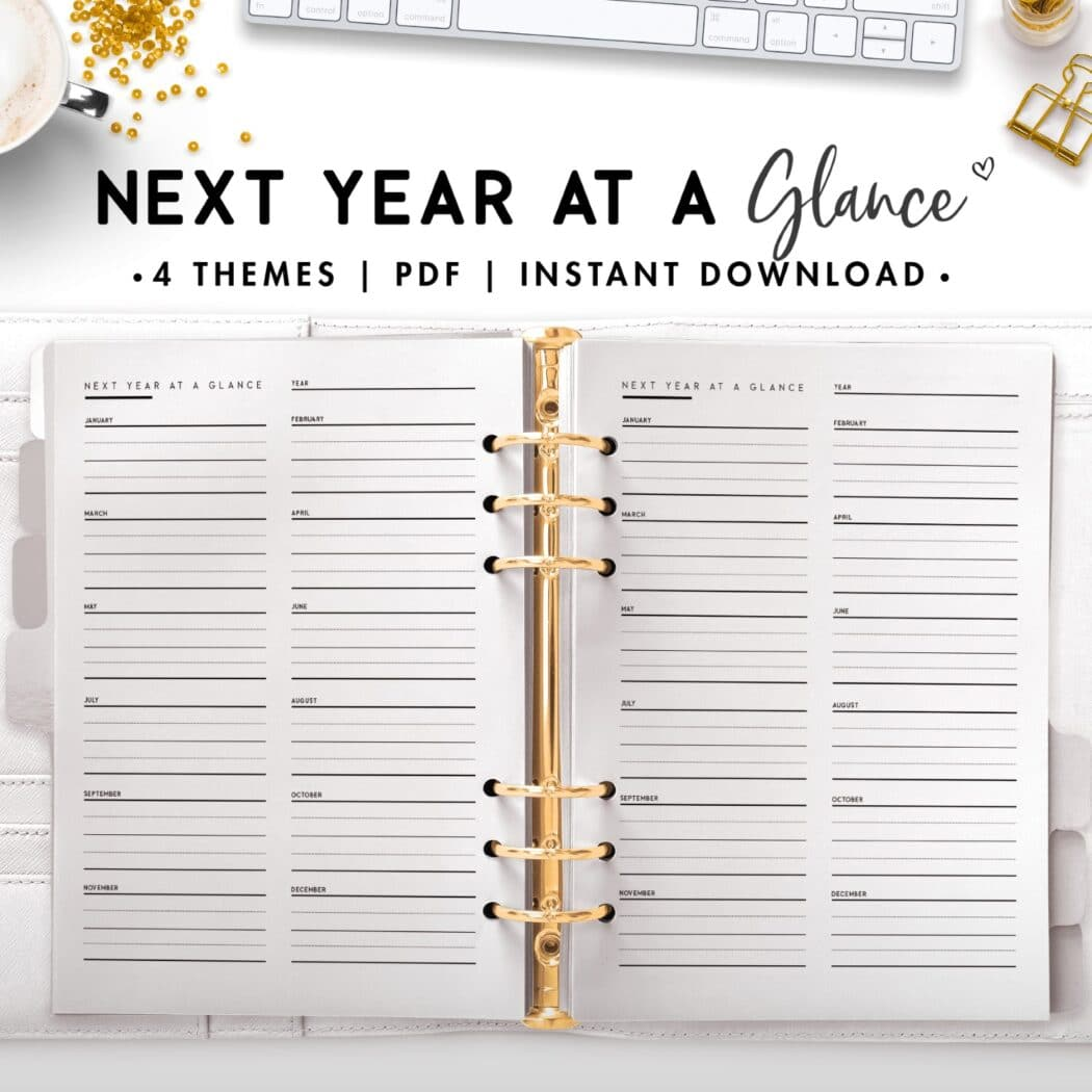 next year at a glance - classic